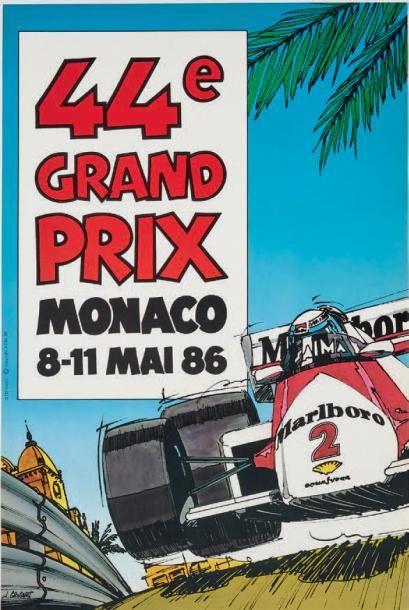 GRAND PRIX DE MONACO 1986 Affiche originale...