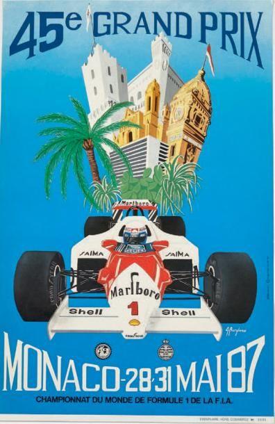 GRAND PRIX DE MONACO 1987 Affiche originale...