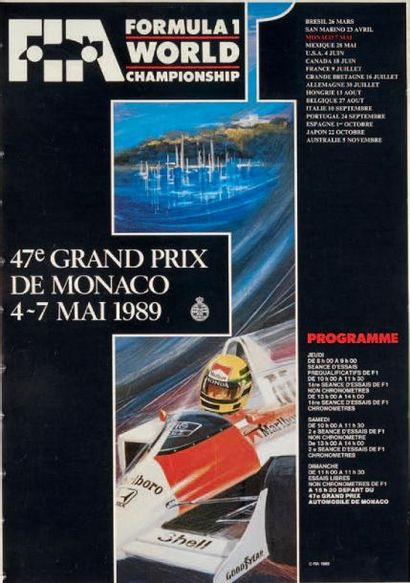 GRAND PRIX DE MONACO Affiches originales...