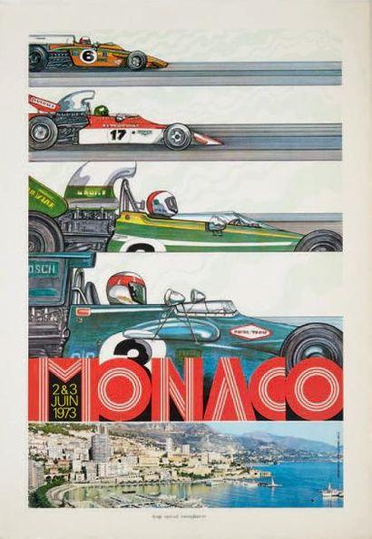 GRAND PRIX DE MONACO 1973 Affiche originale...