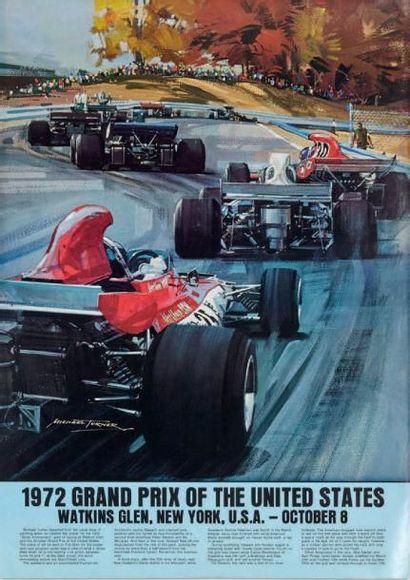 GRAND PRIX DES ETATS UNIS 1972 Affiche originale...
