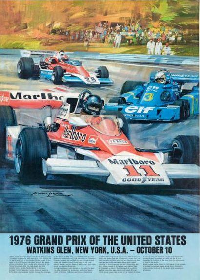 GRAND PRIX DES ETATS UNIS 1976 Affiche originale...