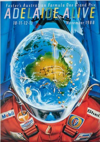 GRAND PRIX D'AUSTRALIE Lot de 8 affiches...