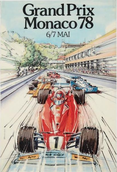 GRAND PRIX DE MONACO 1978 Affiche originale...