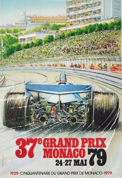 GRAND PRIX DE MONACO 1979 Affiche originale...