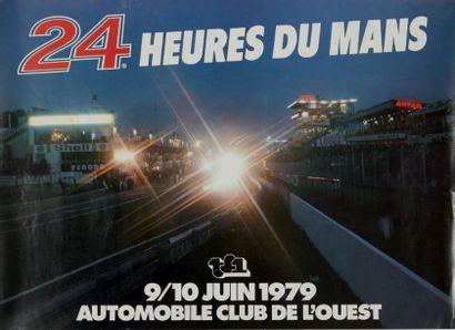 24 HEURES DU MANS 1979 Affiche originale...