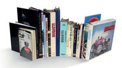 BUGATTI Lot de 21 livres comprenant notamment:...