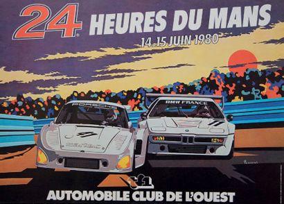 24 HEURES DU MANS 1980 Affiche originale...