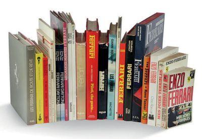 FERRARI Lot de 24 livres comprenant notamment:...