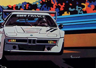 24 HEURES DU MANS 1980 Affiche originale D'après un dessin de Pascarel Editions...