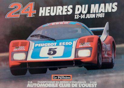 24 HEURES DU MANS 1981 Affiche originale Editions Publi-inter SA Excellent état...