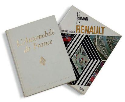 """RENAULT Lot de 2 livres comprenant: - """"L'automobile de France"""", édition Régie Nationale..."""