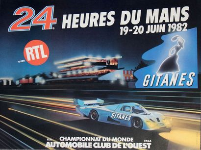 24 HEURES DU MANS 1982 Affiche originale...