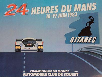 24 HEURES DU MANS 1983 Affiche originale...