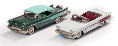 MINIATURES Lot de 2 Pontiac sans leurs boîtes Western Models Ltd 1957 - Pontiac...