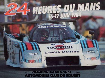 24 HEURES DU MANS 1984 Affiche originale Editions Publi-inter SA Très bon état Dim:...