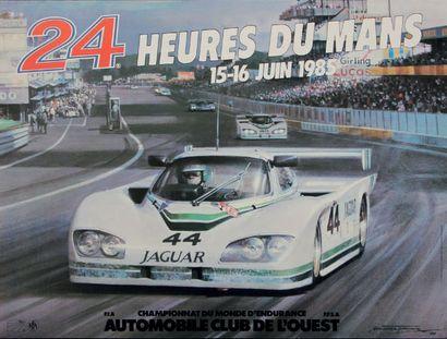 24 HEURES DU MANS Lot de 4 affiches originales...