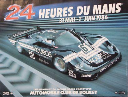 24 HEURES DU MANS Lot de 4 affiches originales des éditions 1985, 1986, 1987 et...