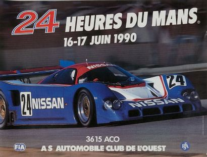 24 HEURES DU MANS Lot de 5 affcihes des éditions 1985, 1988, 1989, 1990 et 1991...