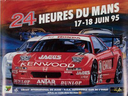 24 HEURES DU MANS Lot de 5 affcihes des éditions 1992, 1993, 1994, 1995 et 1996...
