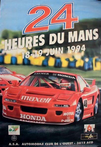 24 HEURES DU MANS 1994 Affiche originale...
