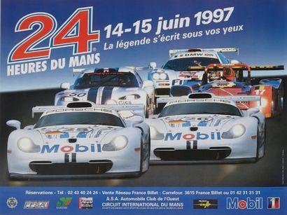 24 HEURES DU MANS Lot de 6 affiches des éditions...