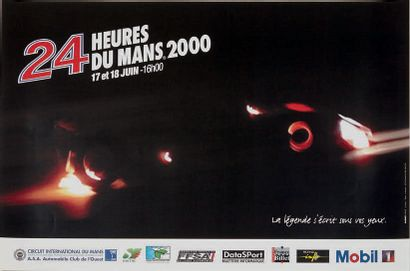 24 HEURES DU MANS Lot de 6 affiches des éditions 1997, 1998, 1998, 1999, 2000 et...