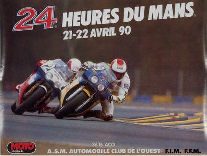 24 HEURES DU MANS MOTO Lot de 3 affiches...