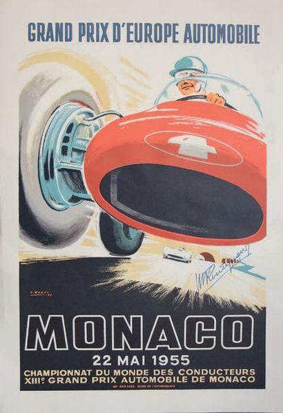 GRAND PRIX DE MONACO 1955 Réédition dédicacée...