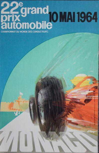 GRAND PRIX DE MONACO 1964 Affiche originale...