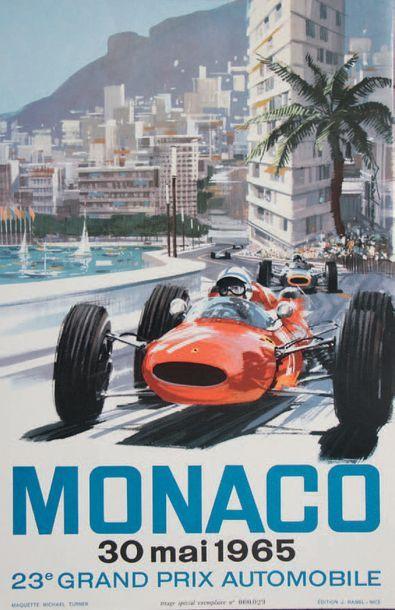 GRAND PRIX DE MONACO 1965 Affiche originale...