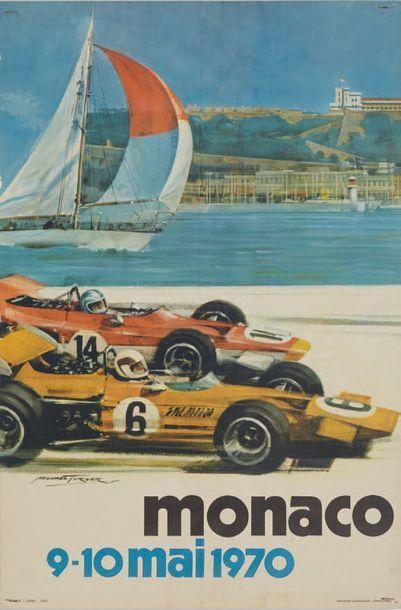 GRAND PRIX DE MONACO 1970 Affiche originale...