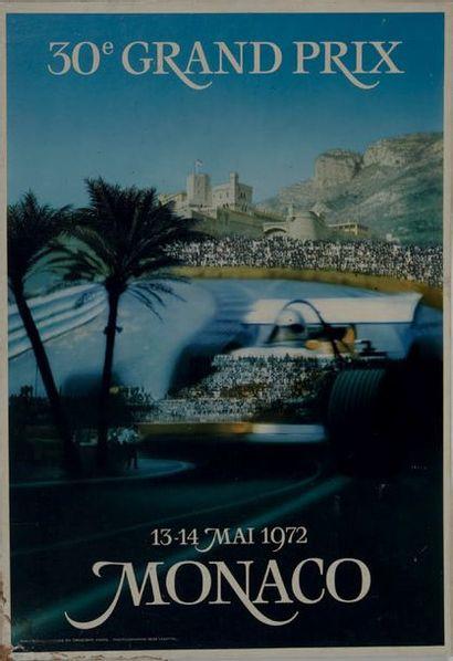 GRAND PRIX DE MONACO 1972 Affiche originale...
