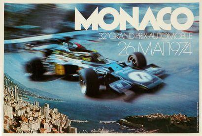 GRAND PRIX DE MONACO 1974 Affiche originale...