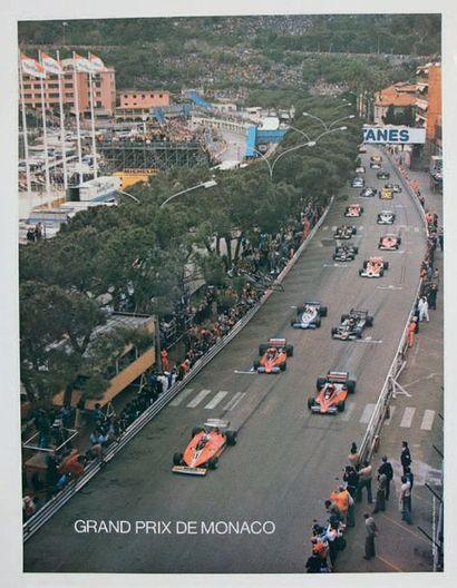 GRAND PRIX DE MONACO 1978 Poster de la grille de départ sur papier glacé D'après...