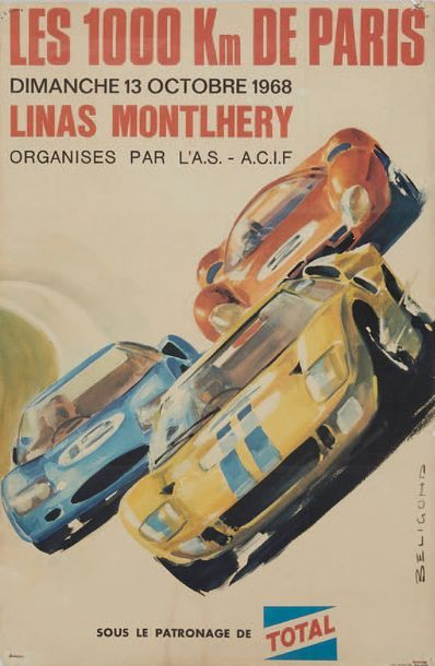 1000 KM DE PARIS 1968 Autodrome Linas Montlhery...