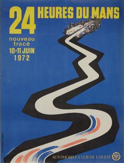24 HEURES DU MANS 1972 Affiche originale...