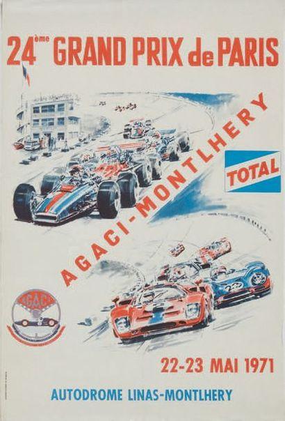 GRAND PRIX DE PARIS 1971 Affiche originale...