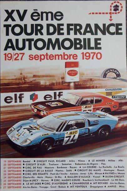 TOUR DE FRANCE AUTO 1970 Affiche originale...