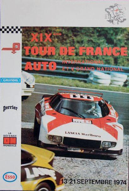 TOUR DE FRANCE AUTO 1974 Affiche originale...
