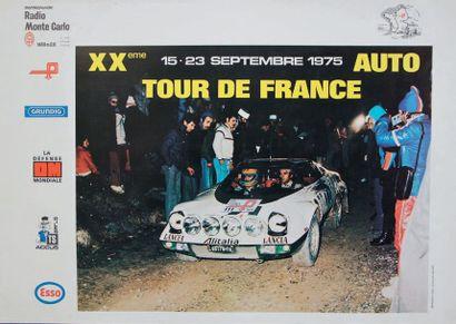 TOUR DE FRANCE AUTO 1975 Affiche originale...