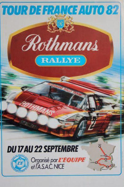 TOUR DE FRANCE AUTO 1982 Affiche originale....