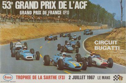 GRAND PRIX DE FRANCE 1967 Affiche originale...