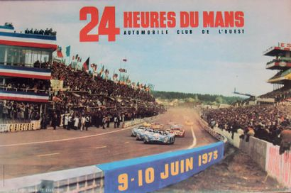 24 HEURES DU MANS 1973 Affiche originale...