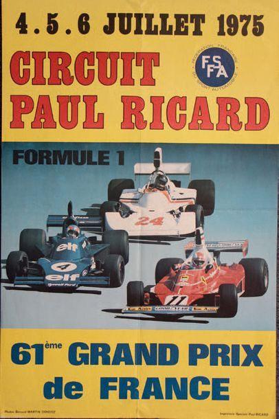 GRAND PRIX DE FRANCE 1975 Affiche originale...