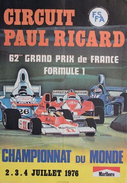 GRAND PRIX DE FRANCE 1976 Affiche originale...