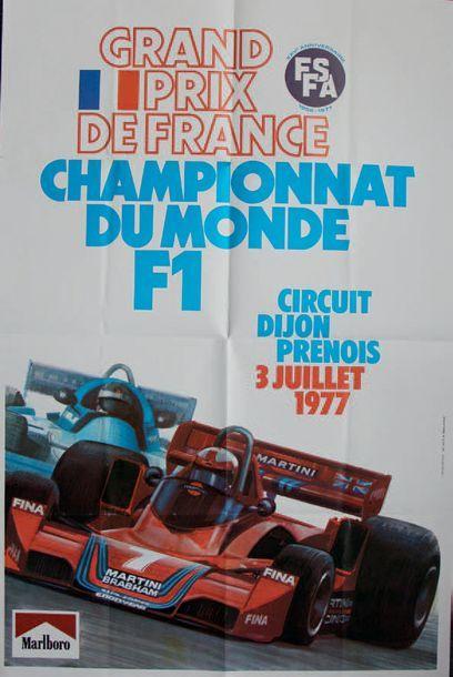 GRAND PRIX DE FRANCE 1977 Affiche originale...