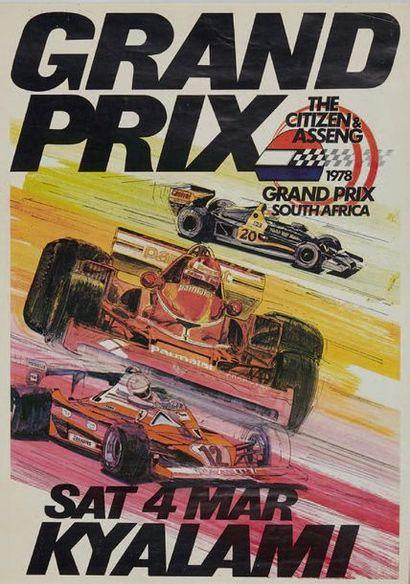 GRAND PRIX AFRIQUE DU SUD 1978 Affiche originale...