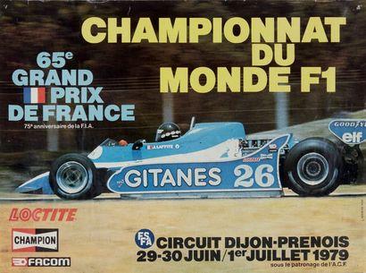 FORMULE 1 Lot de 2 affiches des courses suivantes:...