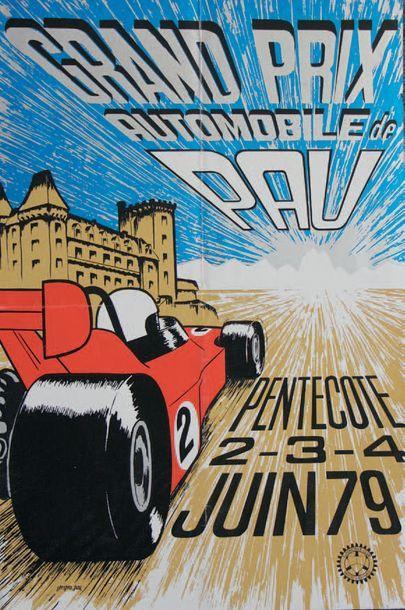 GRAND PRIX DE PAU 1979 Affiche originale...